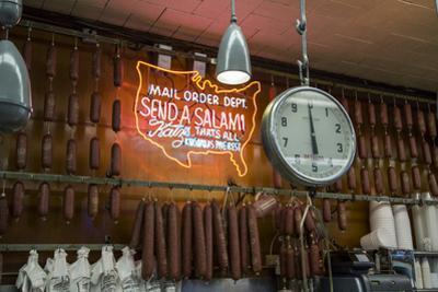 Katz's Deli Salamis with Scale (New York Landmark Eatery) by Henri Silberman
