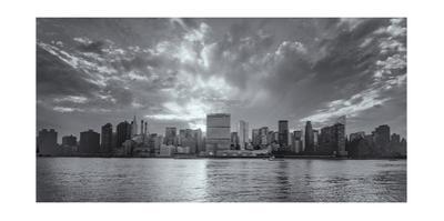Manhattan East Side Sunset Panorama by Henri Silberman