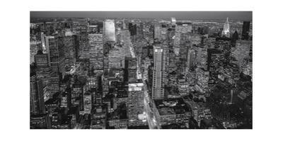 Manhattan North View Evening Panorama by Henri Silberman