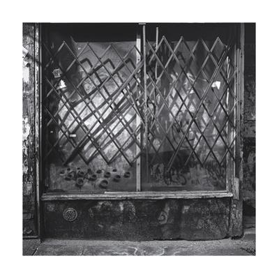 Manhattan Store Window Gate Shadows by Henri Silberman