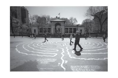 Manhattan Union Square Park Walkers by Henri Silberman