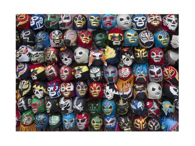 Mexican Wrestling Masks 2 (Store Display in the Mission, San Francisco, CA) by Henri Silberman