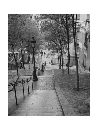Montmartre Steps 2 - Paris, France by Henri Silberman