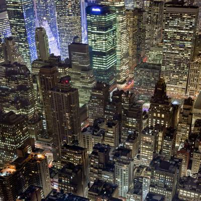 New York City, Top View 10 (Met Life Building, Looking North, Night) by Henri Silberman