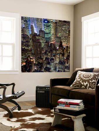 New York City, Top View 10 (Met Life Building, Looking North, Night)