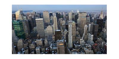 New York City, Top View 2 (Afternoon) by Henri Silberman