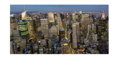 New York City, Top View 4 (Evening)