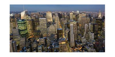 New York City, Top View 4 (Evening) by Henri Silberman