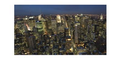 New York City, Top View 7 (Evening Panorama) by Henri Silberman