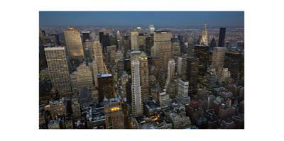 New York City, Top View 9 (Evening, Looking North) by Henri Silberman