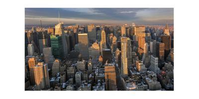 New York City, Top View (Sunset)