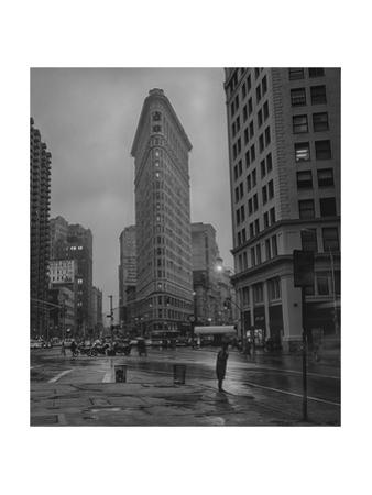 New York  Flatiron Rain by Henri Silberman