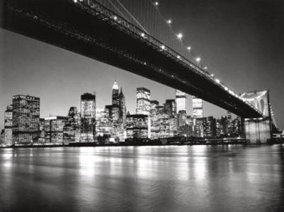 New York, New York, Manhattan Skyline by Henri Silberman