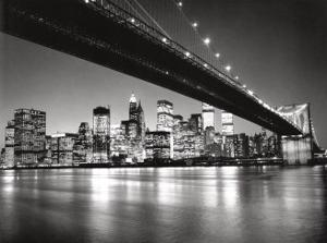 New York, New York, Manhattan Skyline by Henri Silberman