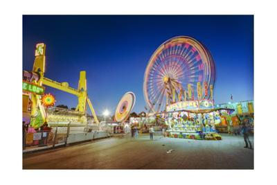 North Carolina State Fair Spinning Rides by Henri Silberman