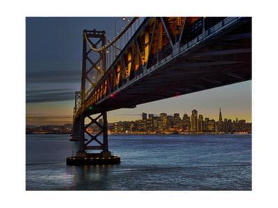Oakland Bay Bridge with San Francisco Skyline by Henri Silberman