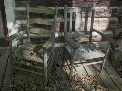 Old Wooden Chairs on Porch (Chapel Hill, NC) by Henri Silberman