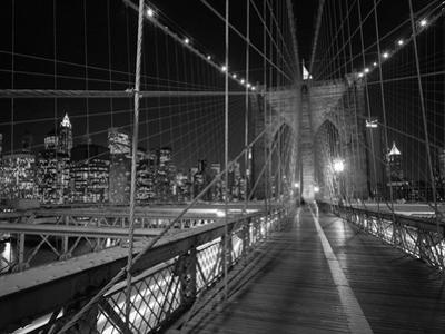 On the Brooklyn Bridge Night by Henri Silberman