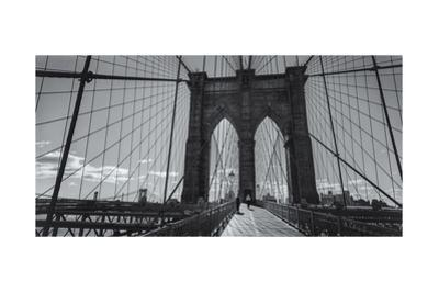 On the Brooklyn Bridge Shadows  Panorama