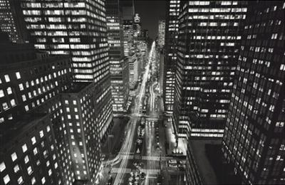 Park Ave. At Night by Henri Silberman