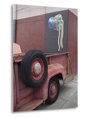 Red Truck Tires with Wall Painting (the Mission, San Francisco, CA) by Henri Silberman
