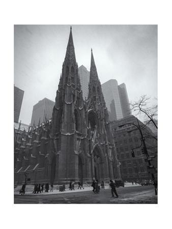 Saint Patrick'S Cathederal In Winter by Henri Silberman