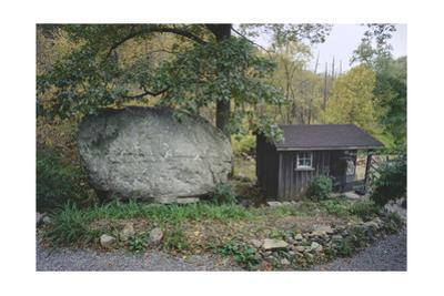 Shack And Boulder Upstate New York by Henri Silberman
