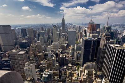 South View from Mid-Town Manhattan Empire State Building by Henri Silberman