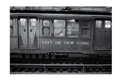 Subway Car Close-Up Nyc by Henri Silberman