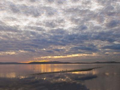 Sunset Clouds from Alameda by Henri Silberman
