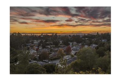 Sunset Over Oakland by Henri Silberman