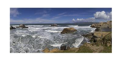Sutro Baths, San Francisco, CA 1 (Surf and Rocks) by Henri Silberman