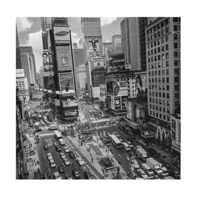 Times Square, NY Afternoon - Aerial View Of Midtown Manhattan Iconic Nyc