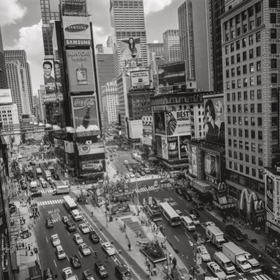 Times Square, NY Afternoon - Aerial View Of Midtown Manhattan Iconic Nyc by Henri Silberman