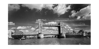 Tower Bridge London England Panorama by Henri Silberman