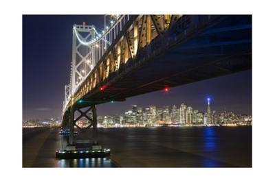 Under The Bay Bridge Treaure Island - View Of San Francisco at Night From Treasure Island by Henri Silberman