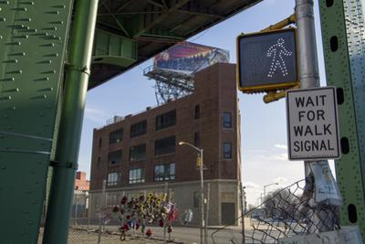 Under the Gowanus Expressway, Brooklyn, Ny (Urban Street with Memorial and Signs)