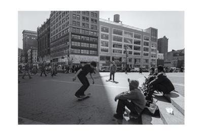 Union Square Skateboarders by Henri Silberman