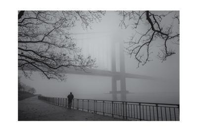 Verrazano Bridge Fog Man by Henri Silberman