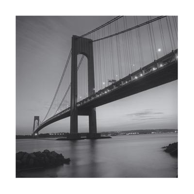 Verrazano Bridge, New York City at Night by Henri Silberman