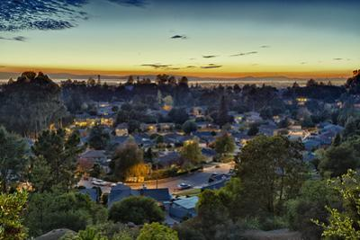 View of Leona Heights at Sunset by Henri Silberman