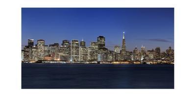 View of San Francisco, Night 1 (from Treasure Island) by Henri Silberman