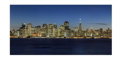 View of San Francisco, Night 2 (from Treasure Island) by Henri Silberman