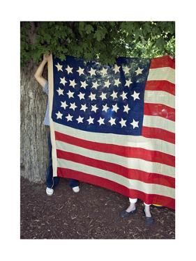 Vintage American Flag Fourth Of July By Henri Silberman