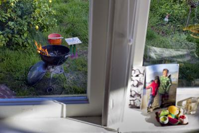 Window Sill Still Life, Barbecue (Garden View) by Henri Silberman