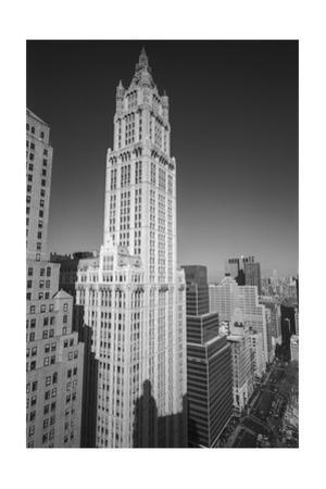 Woolworth Building and Lower Broadway - Aerial View Looking North by Henri Silberman
