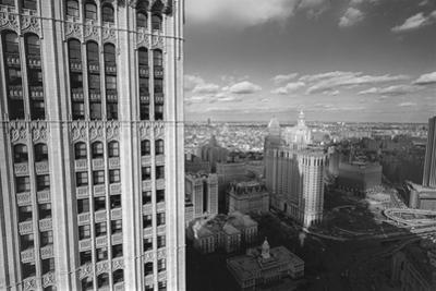 Woolworth Building and New York City City Hall - Aerial View Of Lower Manhattan by Henri Silberman