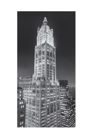 Woolworth Building at Night 2 Panorama by Henri Silberman