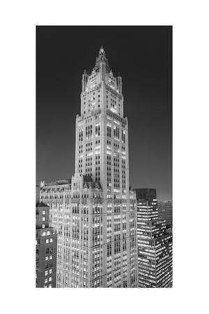 Woolworth Building at Night Panorama by Henri Silberman