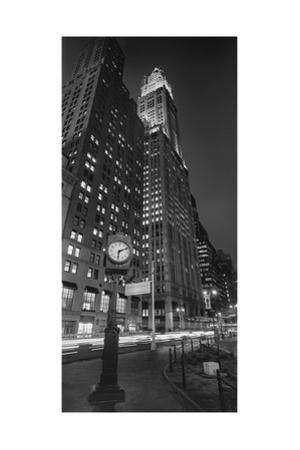 Woolworth Building Clock Panorama by Henri Silberman